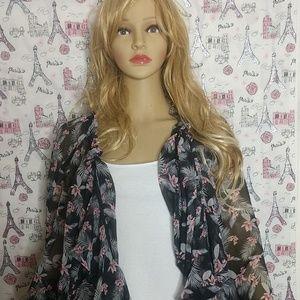 Victoria Secret Floral Chiffon Kimono/Duster